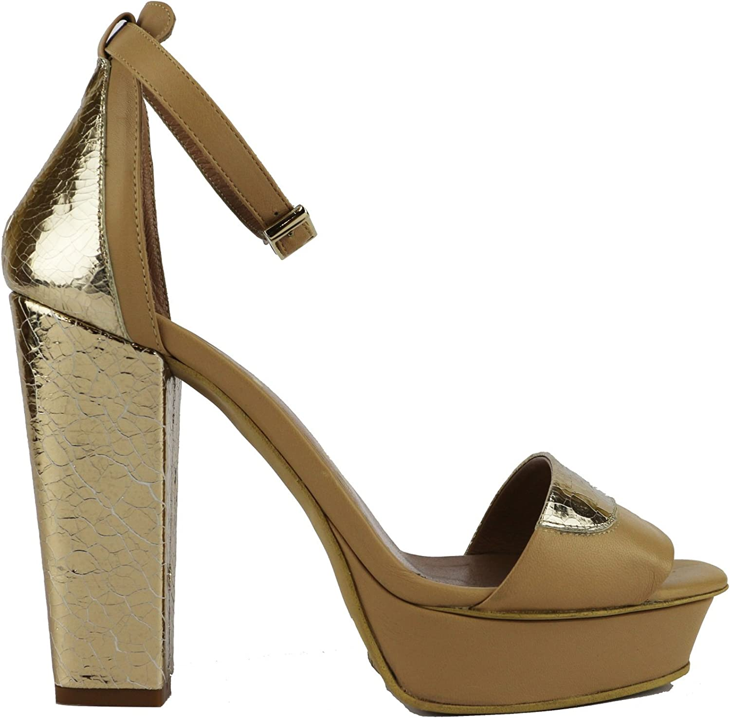 MY COCHO Sandals Womens Leather Beige