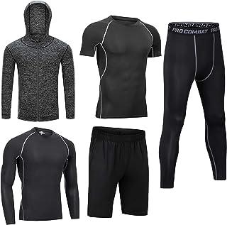 Uomini Abbigliamento Allenamento Abbigliamento Fitness Palestra Outdoor Running Pantaloni di Compressione Camicia Top Mani...
