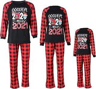 Coincidencia 2021 Familia Pijamas de Navidad Cuarentena PJs Cuadros Pantalones de Pijama Papá Mamá Niño Niña Ropa de Dormir Bebé Salón