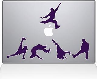"The Decal Guru 1028-MAC-15X-LAV Break Dancer Silhouettes Vinyl Sticker, 15"" Macbook Pro (2016 & newer), Purple"