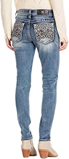 Miss Me Women's Tribal Embroidered Pocket Mid-Rise Skinny Jeans