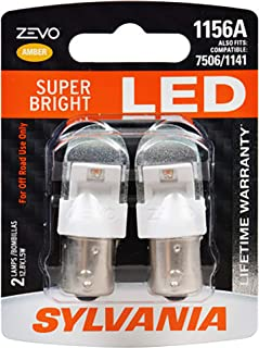 SYLVANIA - 1156 ZEVO LED Amber Bulb - Bright LED Bulb, Ideal for Park and Turn Lights (Contains 2 Bulbs)