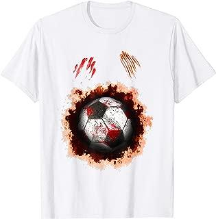 Halloween Zombie Soccer Player T-Shirt Soccer Ball lovers