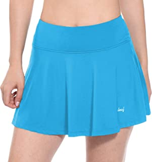 Baleaf Women's Tennis Skirt Lightweight Golf Tenni Skort Pockets Running Workout