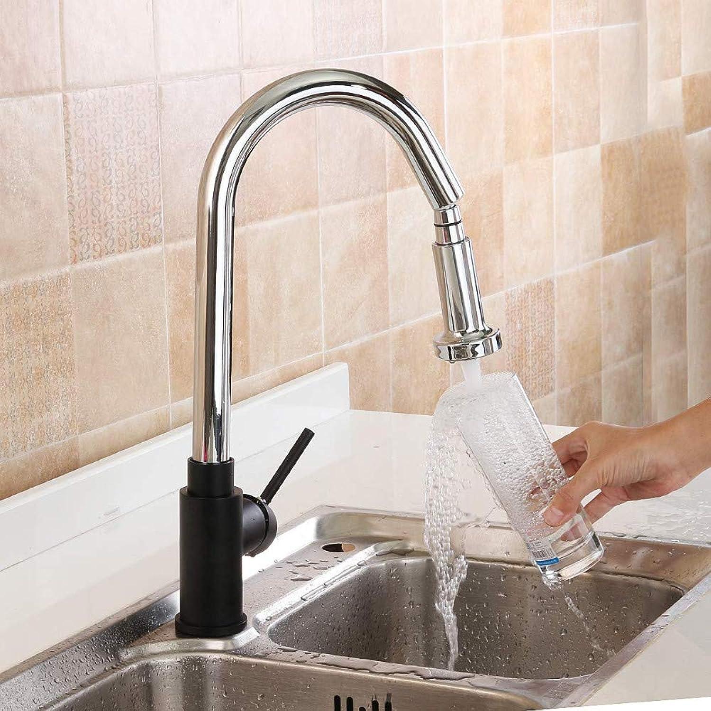 Wasserhahn Küche Waschbecken Badezimmer Chrome schwarz Crane Küchenarmatur Ausziehbare Küchenarmatur 360 Rotate Copper Sink Mischbatterie Warmes und kaltes Wasser