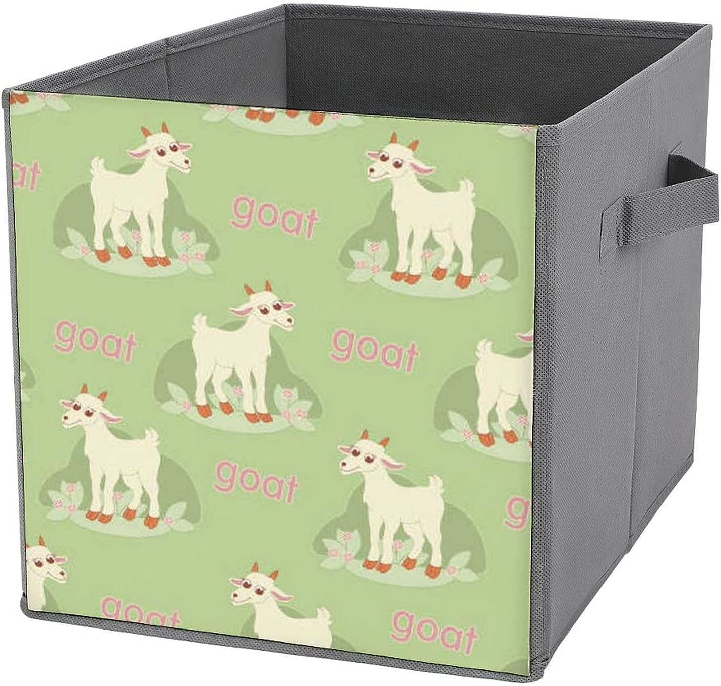 DGHREAW Funny Goat Selling and selling with Leaves Foldable Flowers Under blast sales Bask Storage
