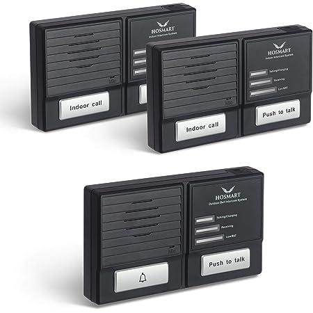 Home Wireless Intercom Doorbell Kit Two-Way Talk Intercomunicador Black