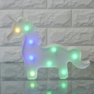 3D Unicorn LED Night Lamp Decorative Marquee Signs Home Night Light Wall Decoration for Living Room,Bedroom,Party, Holiday...