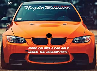Gy Vinyl Arts,Night Runner,Low Stance,Windshield,Decal,Window,Car,Sticker,Banner (4