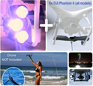 Professional Release and Drop Plus Device with LED Light Searchlight Bundle for DJI Phantom 4 (All Models), for Drone Fishing, Bait Release, Search & Rescue, Payload Delivery, Fun Activities