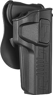 Colt 1911 5'' Holster OWB, Paddle Holster fit 1911 Colt 45, Girsan 1911 MC, Variants 1911, Browning MK3, 360 Degree Adjustable Tactical Polymer Pistol Holsters, Right-Handed