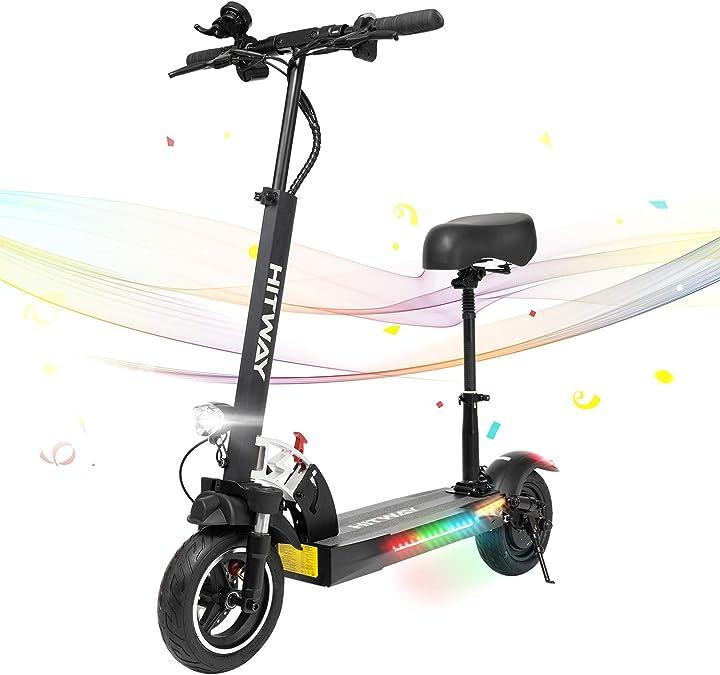Scooter elettrico, e scooter, 800w, 45 km/h, 40 km, scooter elettrico pieghevole hitway B08KZY6378