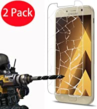 2 Pack - Samsung Galaxy A3 2017 Tempered Glass, FoneExpert Tempered Glass Crystal Clear LCD Screen Protector Guard & Polishing Cloth For Samsung Galaxy A3 2017