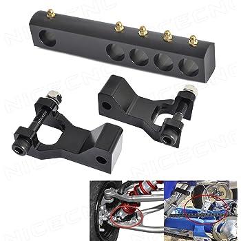 AnXin ATV 1 or 3.5 Aluminum Rear Lowering Kit Adjustable for Yamaha YFZ450 YFZ 450 2004-2012,Black