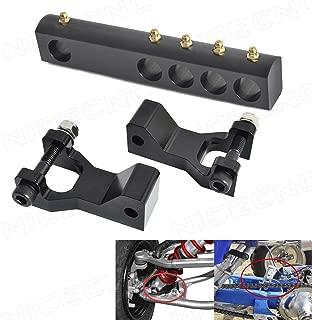 NICECNC Black ATV Front & Rear Lowering Kit Lower Link for Banshee 350 YFZ350 1987-2008 Warrior 350 YFM350X 1987-2004