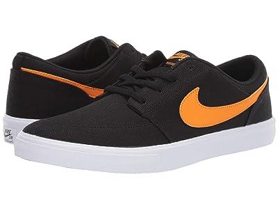Nike SB Portmore II Solar Canvas (Black/Kumquat/Black/White) Men