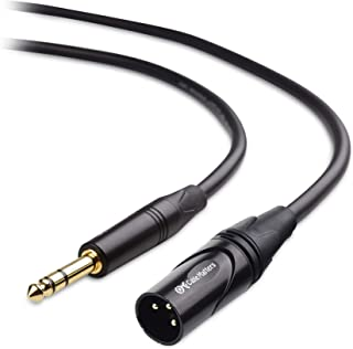 Cable Matters 6.35mm (1/4 Inch) TRS to XLR Cable (XLR to TRS Cable) Male to Male 6 Feet