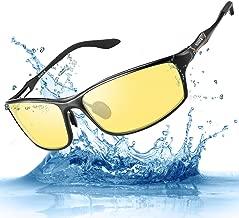 Night Driving Glasses HD Polarized Lens Retro Wayfarer Sunglasses for Men & Women