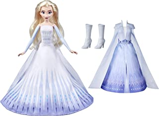 Disney's Frozen 2 Elsa's Transformation Fashion Doll with 2 Outfits and 2 Hair Styles, Toy Inspired by Disney's Frozen 2