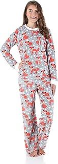 Women's Fleece Long Sleeve Pajamas PJ Set