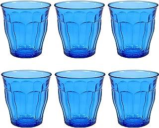Duralex 1027SR06SB/6 Glass Tumbler, 8.75 oz, Blue