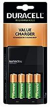 Duracell - Ion Speed 1000 Cargador de batería con 4 baterí