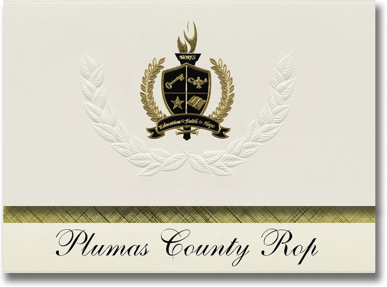 Signature Ankündigungen Plumas County (ROP (ROP (ROP (Quincy, ca) Graduation Ankündigungen, Presidential Stil, Basic Paket 25 Stück mit Gold & Schwarz Metallic Folie Dichtung B0794SNB2Q | Stilvoll und lustig  670968