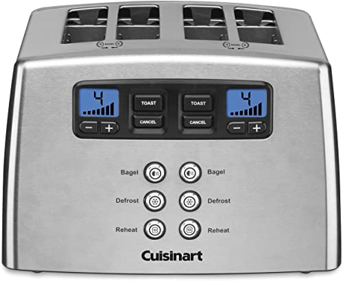 Cuisinart-Touch-to-Toast-Leverless-toaster,-4-Slice,-Brushed-Stainless-Steel