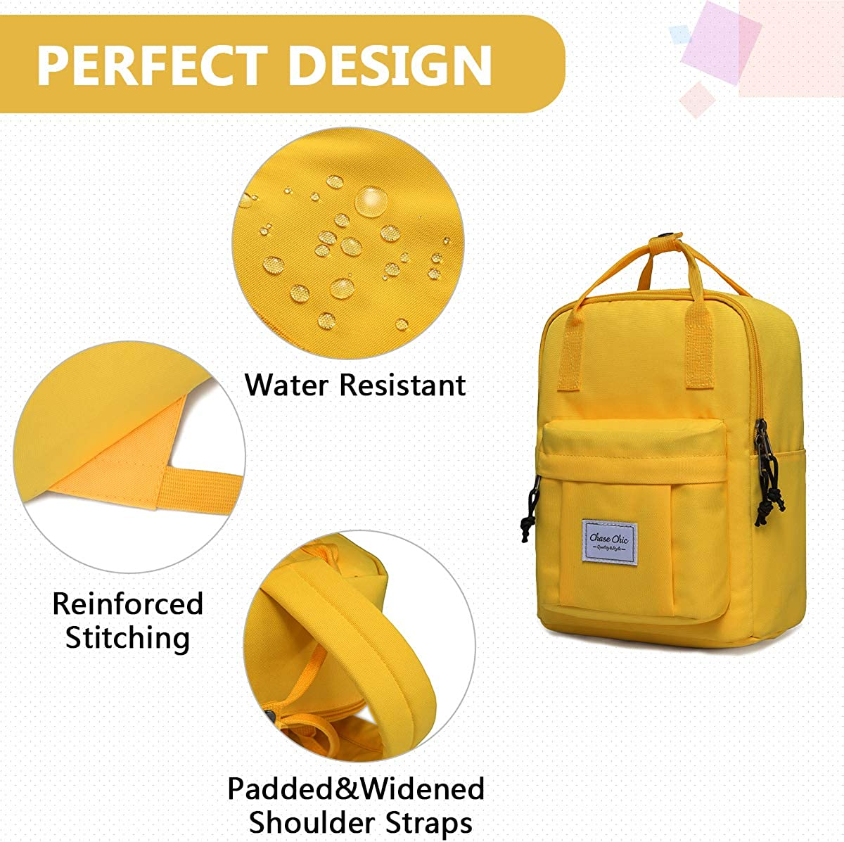 Backpack for Girls, Chasechic Fashion Lightweight Convertible Casual Travel Daypack