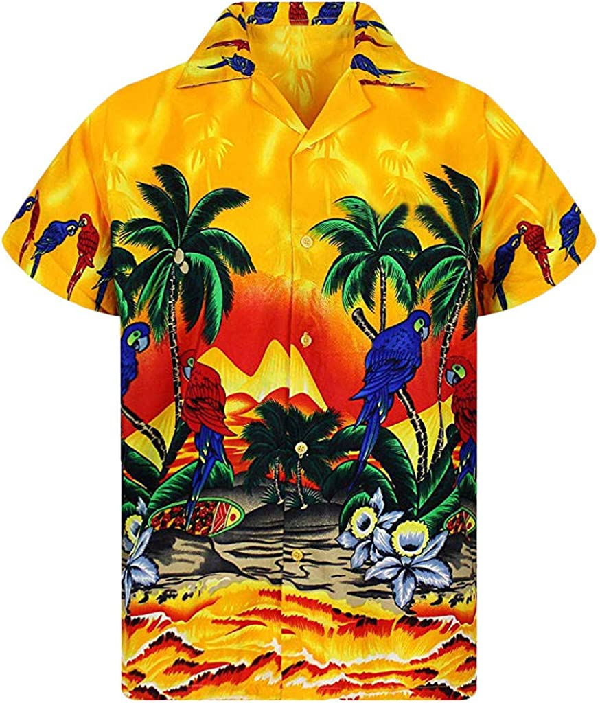Shirt for Men Fresno Mall F_Gotal Men's Sleeve Sale price Short Be Stag Hawaiian