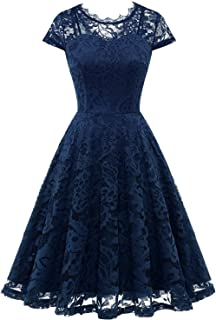 Sponsored Ad - Dressystar Women's Lace Floral Cocktail Party Dress Formal Bridesmaid Wedding Dresses A-line