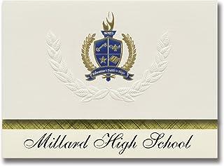 Signature Announcements Millard High School (Fillmore, UT) Graduation Announcements, Presidential style, Elite package of ...