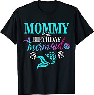 mermaid mom and dad shirt