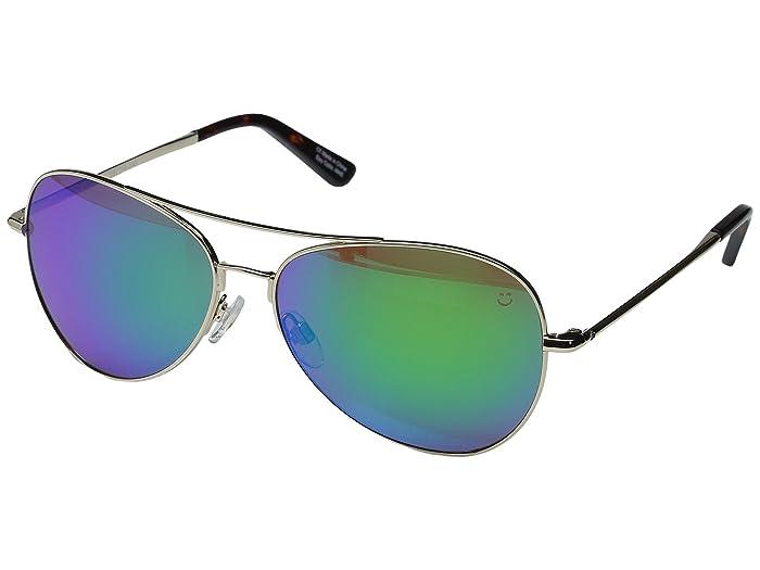 Spy Optic Whistler (Gold/Happy Bronze/Green Spectra) Metal Frame Sport Sunglasses