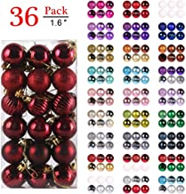 GameXcel Christmas Balls Ornaments for Xmas Tree - Shatterproof Christmas Tree Decorations Large Hanging Ball Wine Red with Irregular Ball 1.6