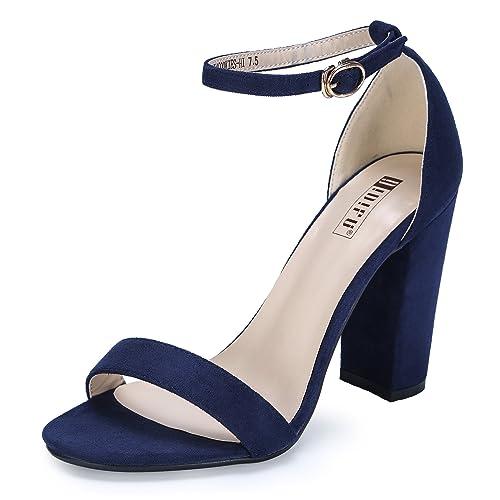 a2f3b485cfb19 Navy Blue Block Heels: Amazon.com