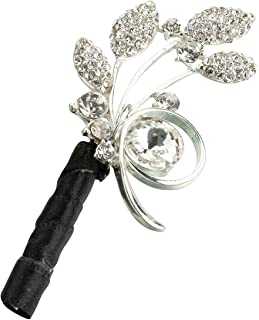 black and silver boutonniere