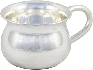 Silver Baby Cup for Feeding - Silver Feeding Cup for Babies - 8 OZ