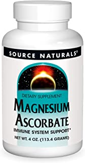 Source Naturals Magnesium Ascorbate, Powder, 4 Ounce