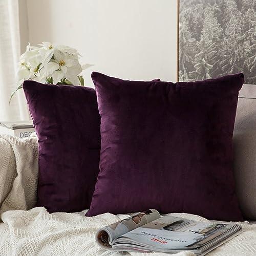 Purple Decorative Pillows Amazon Co Uk