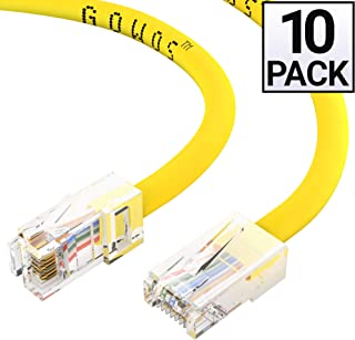 Pack of 10 by Konnekta Cable 10 Foot Bootless Cat5e Green Ethernet Patch Cable