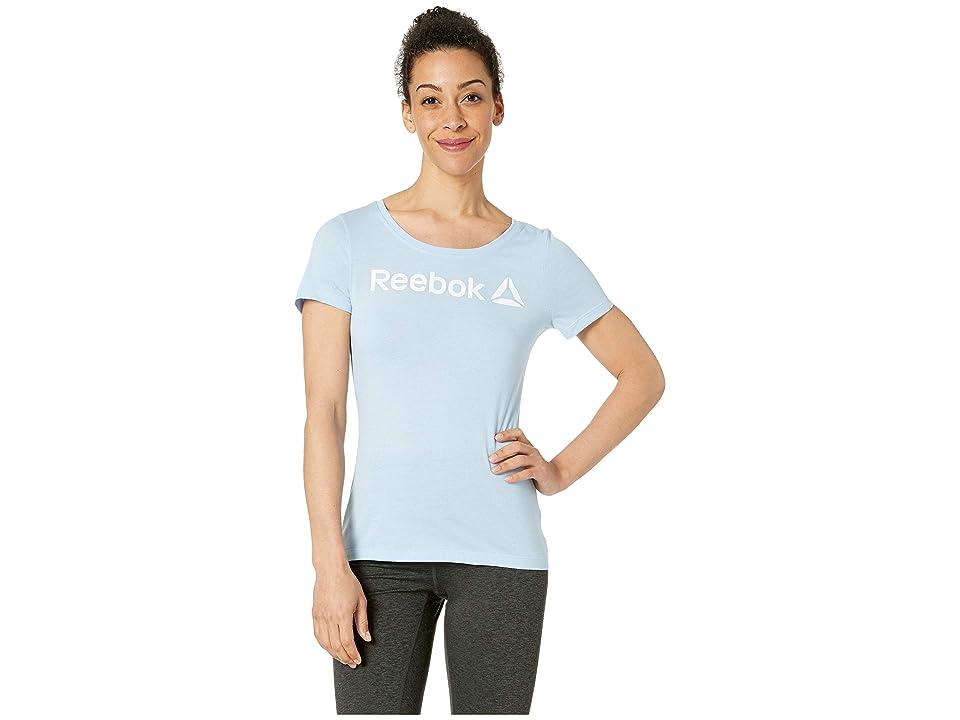 Reebok Linear Workout Ready Scoop Neck (Denim Glow) Women