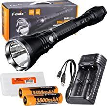 Fenix TK47UE Ultimate Edition 3200 Lumen LED Tactical Flashlight w/ 2X High Capacity 3500mAh Rechargeable Batteries, are-X2 USB Charger, and LumenTac Battery Organizer