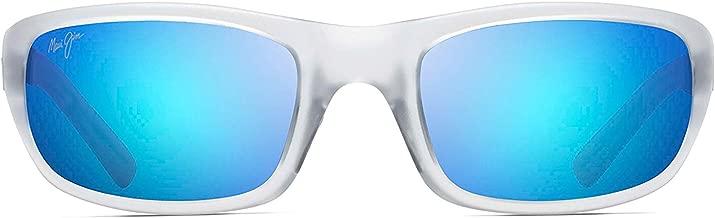 Maui Jim Stingray B103-05CM | Polarized Matte Crystal Rubber Wrap Frame Sunglasses, Patented PolarizedPlus2 Lens Technology