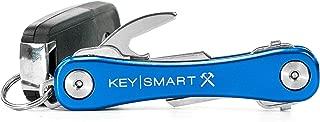 KeySmart Rugged - Multi-Tool Key Holder with Bottle Opener and Pocket Clip (up to 14 Keys, Blue)