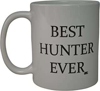 Rogue River Funny Coffee Mug Best Hunter Ever Novelty Cup Great Gift Idea For Dad Brother or Best Friend Who Like Hunting (Hunter)