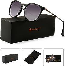 c014b2069fe SUNGAIT Vintage Round Sunglasses for Women Classic Retro Designer Style