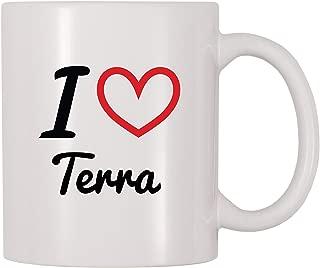 4 All Times I Love Terra Personalized Name Coffee Mug (11 oz)