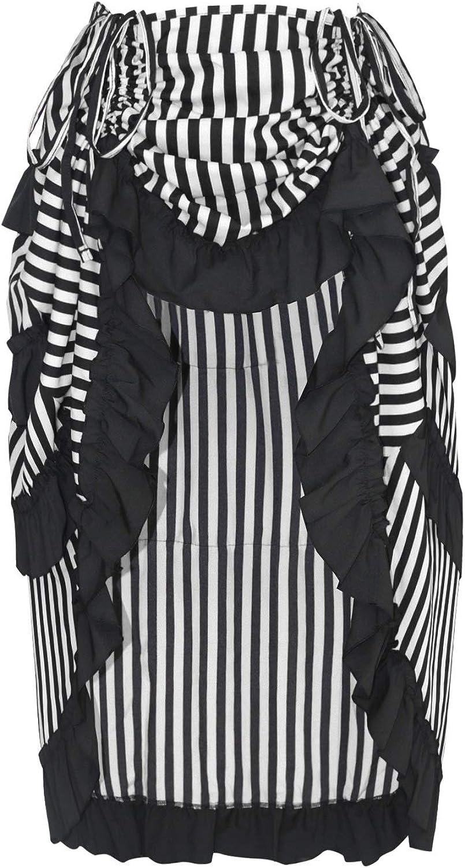 Charmian Women's Steampunk Gothic High Virginia safety Beach Mall Skirt Low Cyberpunk