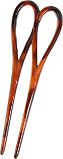 Caravan French Double Hair Pin with Twist In Tortoisese Shell.65 Ounce